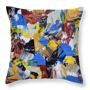 Throw Pillow featuring the painting The Weekend by Heidi Smith