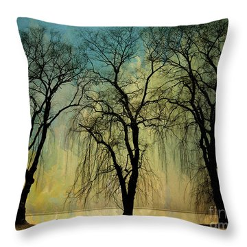 The Weeping Trees Throw Pillow
