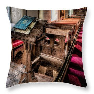 The Welsh Bible Throw Pillow by Adrian Evans