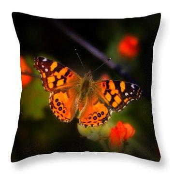 The West Coast Lady Throw Pillow by Rick Furmanek