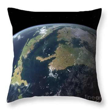 The Western Interior Seaway As Seen 75 Throw Pillow
