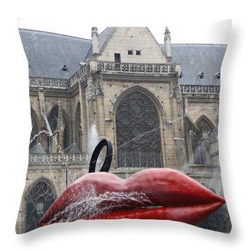 The Wet Kiss Throw Pillow