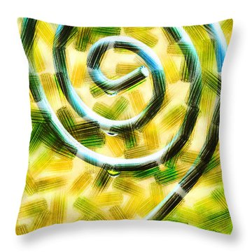 The Wet Whirl  Throw Pillow by Steve Taylor