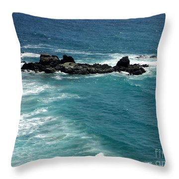 The Whale Rock Throw Pillow by Carla Carson