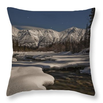 The Wheaton River Valley Lit By The Throw Pillow by Robert Postma
