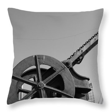 Throw Pillow featuring the photograph The Wheel by Maja Sokolowska