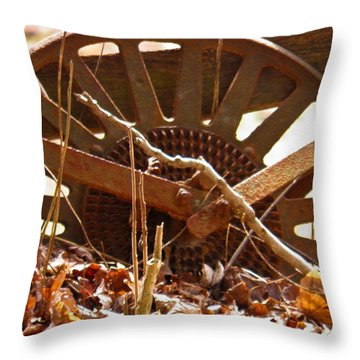 Throw Pillow featuring the photograph The Wheel Of Planting by Nick Kirby