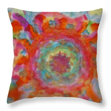 Throw Pillow featuring the painting The Wheel by Thomasina Durkay