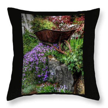 Throw Pillow featuring the photograph The Whimsical Wheelbarrow by Thom Zehrfeld