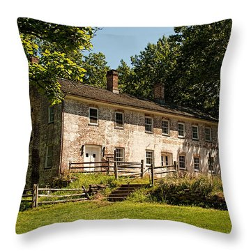 The Wheelwright Shop - Allaire  Throw Pillow