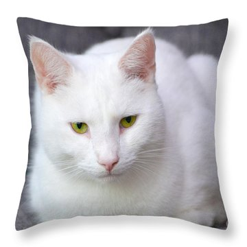 The White Beauty Throw Pillow