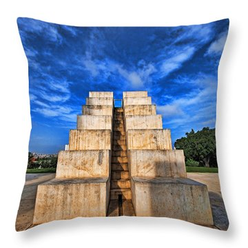 Throw Pillow featuring the photograph The White City by Ron Shoshani