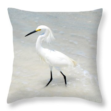 The Poser Throw Pillow by Margie Amberge