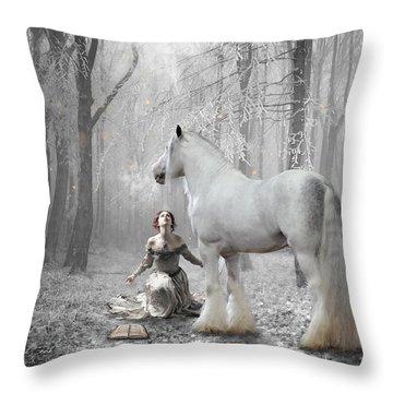 The White Fairytale Throw Pillow