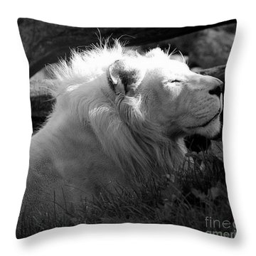 The White King Throw Pillow by Marcia Lee Jones