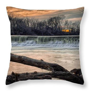 The White River Throw Pillow