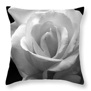 Throw Pillow featuring the photograph The White Rose by James C Thomas