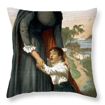 The White Slave Throw Pillow by Aged Pixel