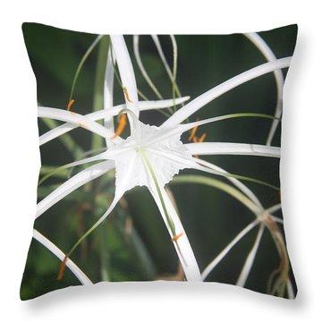 The White Spyder Throw Pillow