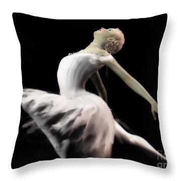 The White Swan - Ballerina Throw Pillow