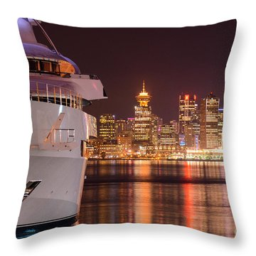 The White Yacht Throw Pillow