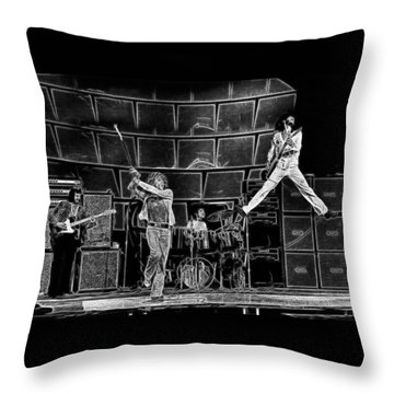 The Who - A Pencil Study - Designed By Doc Braham Throw Pillow