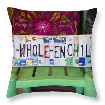 The Whole Enchilada Throw Pillow by Priscilla Burgers