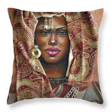 The Whole Story Behind Her Hazel Eyes Throw Pillow