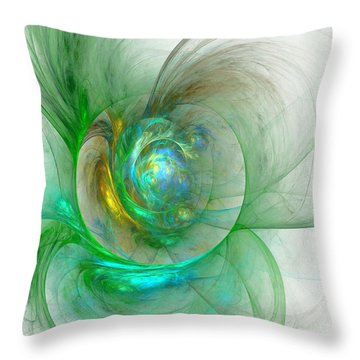 The Whole World In A Small Flower Throw Pillow