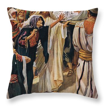 The Widow Of Nain Throw Pillow