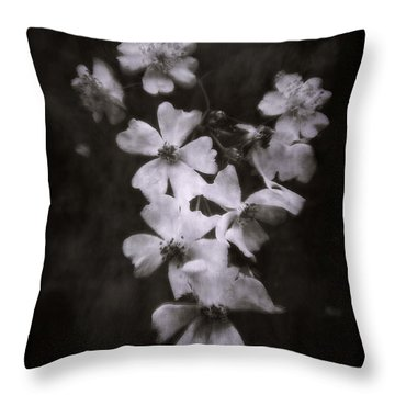 Throw Pillow featuring the photograph The Wild Roses by Louise Kumpf