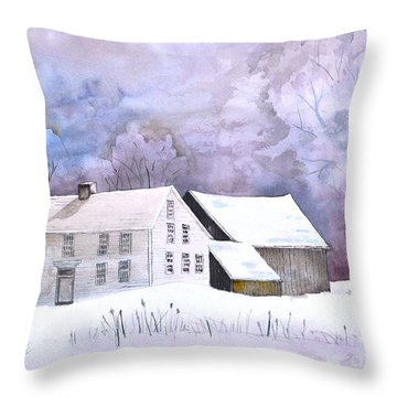 The Wilder Homestead Throw Pillow by Sally Rice