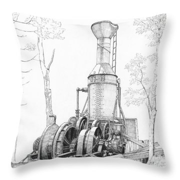 The Willamette Steam Donkey Throw Pillow