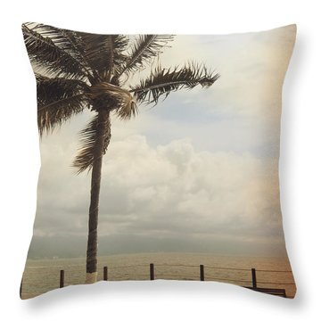 The Wind In My Hair Throw Pillow by Laurie Search