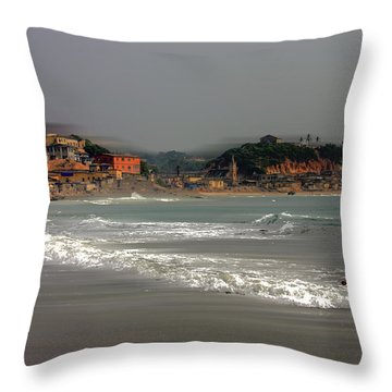 The Wind Is In From Africa Throw Pillow