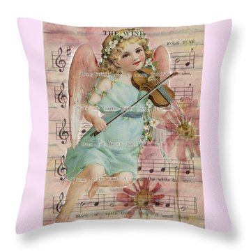 Throw Pillow featuring the photograph The Wind  by Sandra Foster