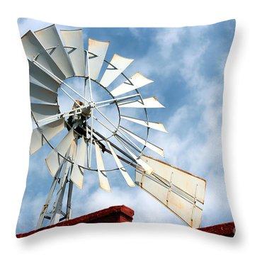 The Wind Wheel Throw Pillow by Kathy  White
