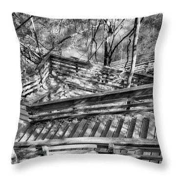 The Winding Stairs Throw Pillow by Howard Salmon