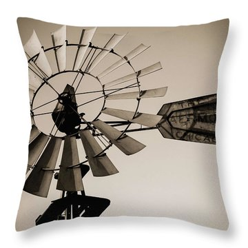 Throw Pillow featuring the photograph The Windmill by Amber Kresge