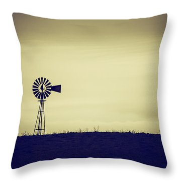 The Windmill Throw Pillow by Karol Livote