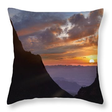 Throw Pillow featuring the photograph The Window At Sunset Big Bend Np Texas by Tim Fitzharris