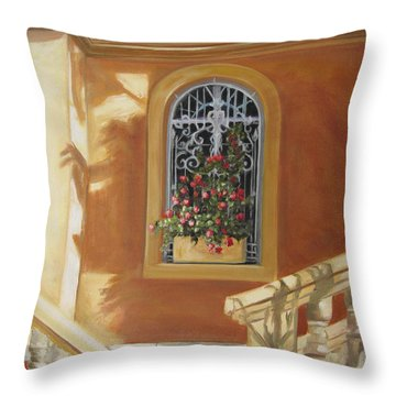 The Window Box Throw Pillow by Roberta Rotunda
