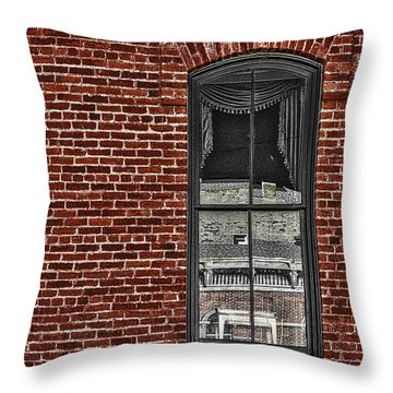 The Window  Throw Pillow by Mitch Shindelbower