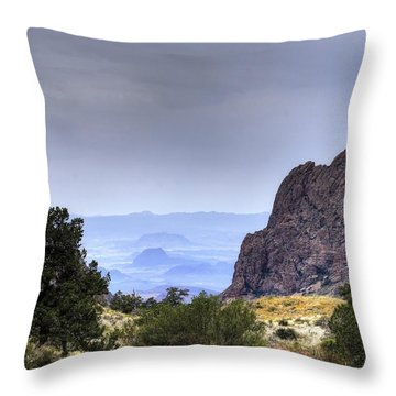 The Window View Throw Pillow by Dave Files