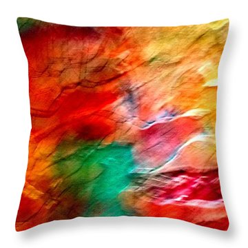 The Winds Of Color Throw Pillow