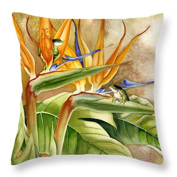 The Windsurfers Throw Pillow