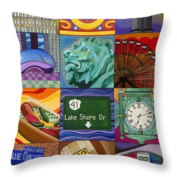 The Windy City Throw Pillow by Carla Bank