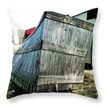 The Winner In The Leaning Contest Throw Pillow by Steve Taylor