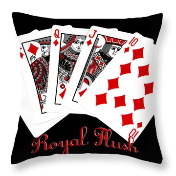 Throw Pillow featuring the photograph The Winning Hand by James C Thomas