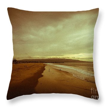 The Winter Pacific Throw Pillow